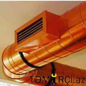Havalandirma ventiyasiya sisteminin montaji
